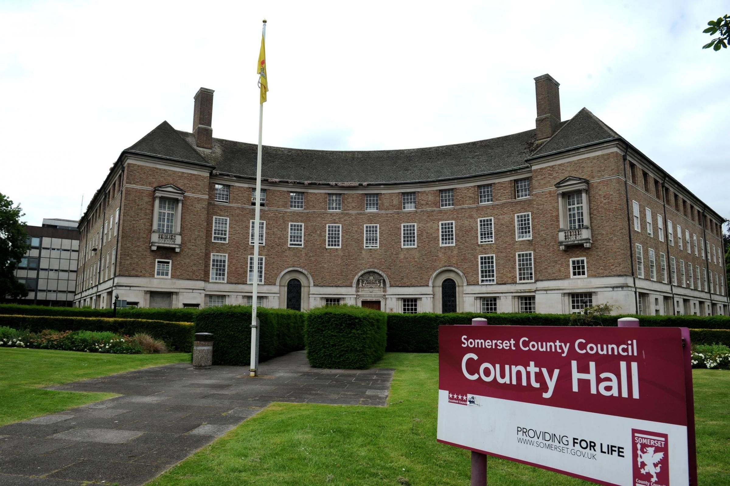 County Hall, home to Somerset County Council