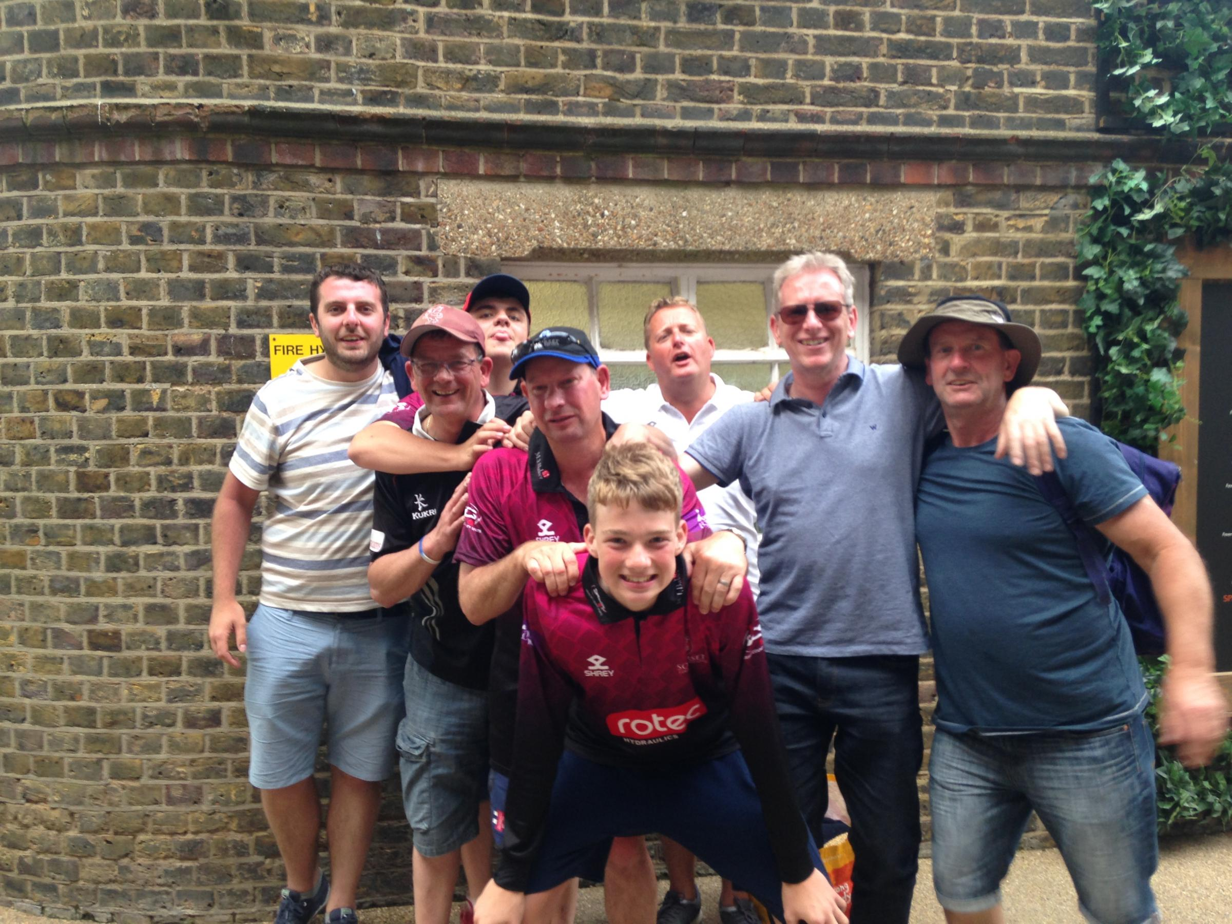 JOY: A contingent from Taunton CC after Somerset's victory at Lord's