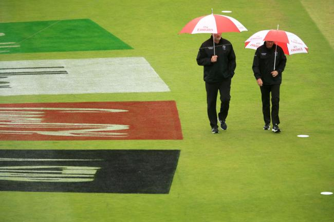 BROLLIES: Rain has affected the Cricket World Cup and County Championship scheduled alike. Pic: PA Wire