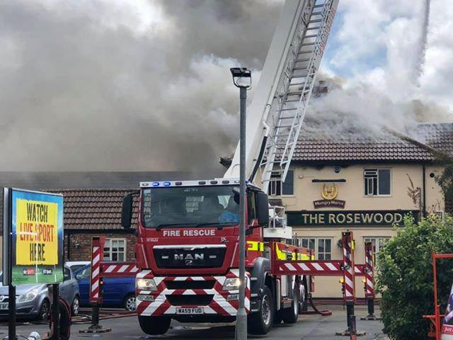 Firefighters working to tackle serious fire at Burnham-on-Sea pub